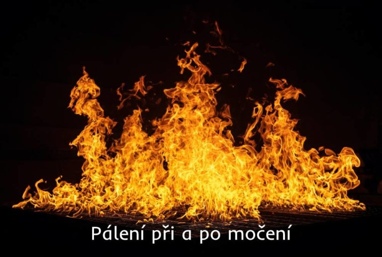 pálení při a po močení